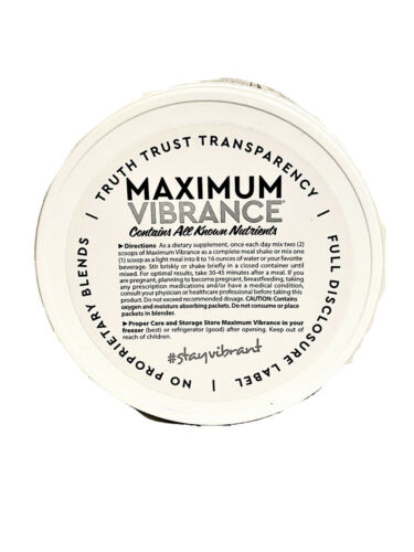 3 Jars Vibrant Health •Maximum Vibrance 6.0• Dark Chocolate w/Sea Salt• 21.60oz 4