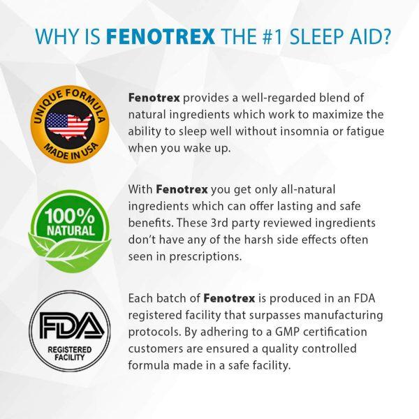 Fenotrex Sleeping Aid - 1 Bottle - 100% Natural Ingredients 1