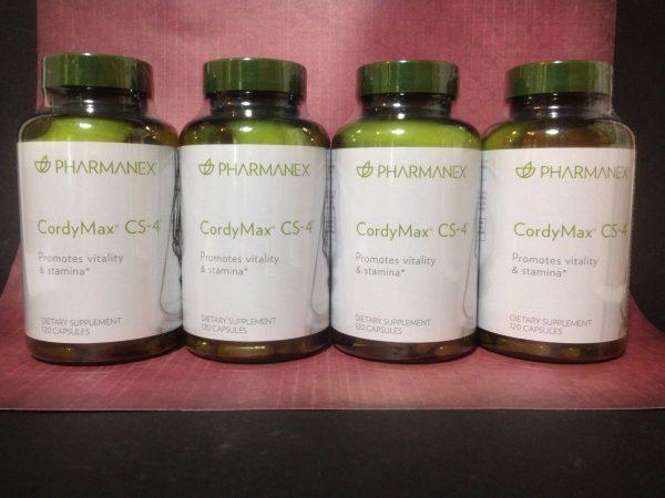 Nu Skin Pharmanex CordyMax Cs-4 x 4, 120 Capsules, Exp 11/2022
