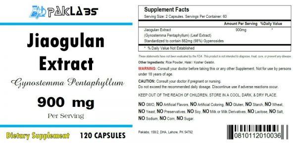 Jiaogulan Extract ( xiancao ) 1000mg 120 Capsules Gynostemma Pentaphyllum =SALE= 1