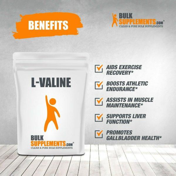 BulkSupplements.com L-Valine Powder - BCAAs Amino Acids - Essential Amino Energy 3
