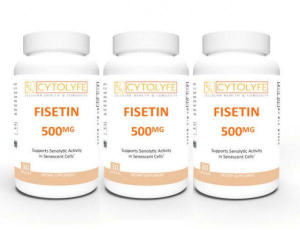 3 Pack - FISETIN 500mg   500mg Fisetin Per Capsule   90 Capsules Total Senolytic