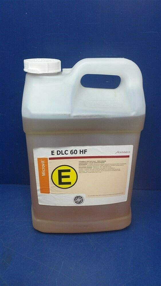 Adisseo Microvit E DLC 60 HF Vitamin E Acetate DLC Feed Grade Liquid -2.5 Gal