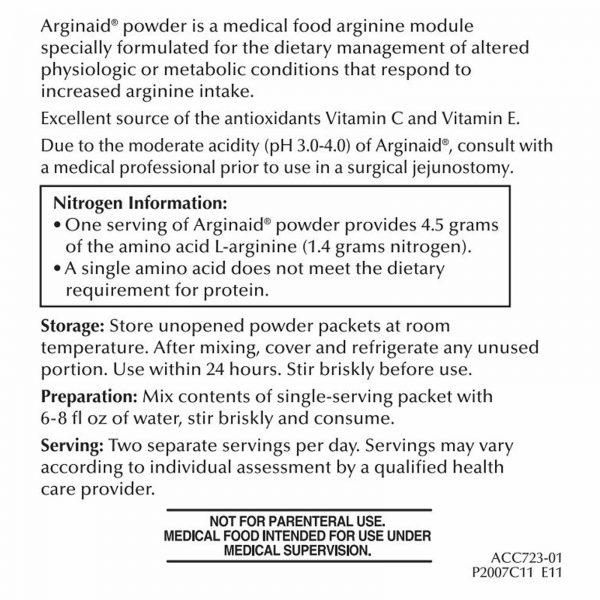 Nestle Arginaid Arginine Powder Cherry 0.32 oz Packet 56 Ct 2
