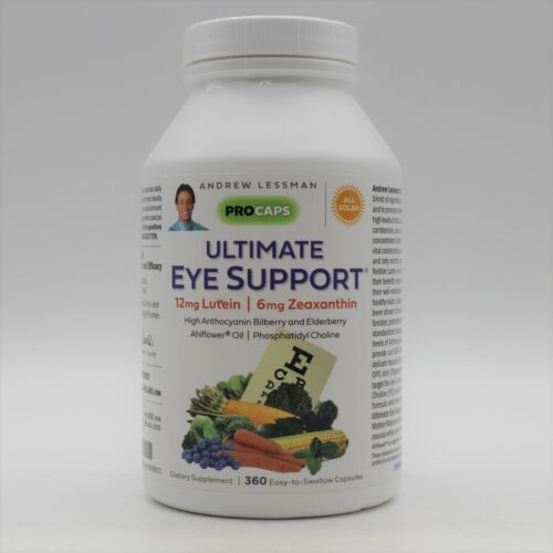 Andrew Lessman Ultimate Eye Support 12mg Lutein 6 mg Zeaxanthin 360 Caps Exp: 22