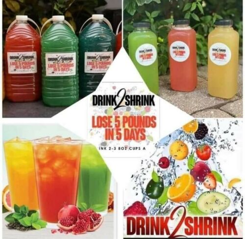 DRINK2SHRINK - FAMILY PACK  - MAKES 8 GALLONS 2 MONTH SUPPLY -  CHOOSE FLAVORS 2