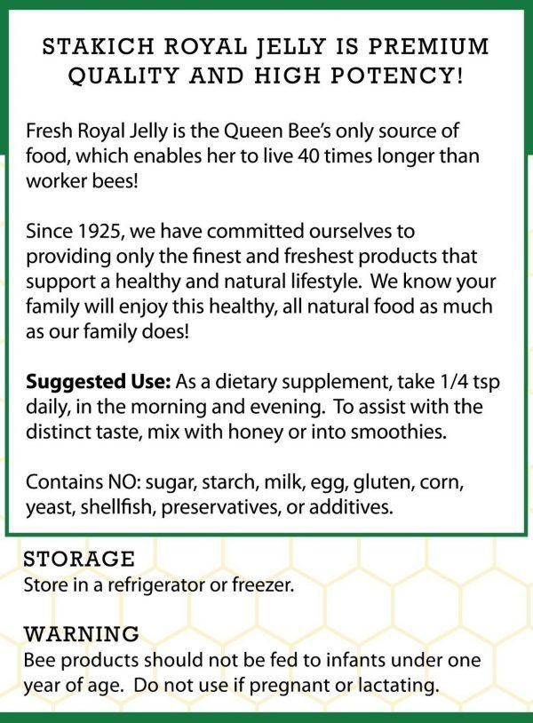 1 lb (16 oz) PURE FRESH ROYAL JELLY 100% NATURAL PREMIUM QUALITY BEE 453,600mg  1