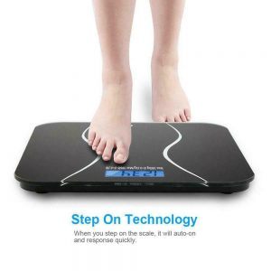 Digital Electronic LCD Personal Glass Bathroom Body Weight Weighing Scale 396 LB 1