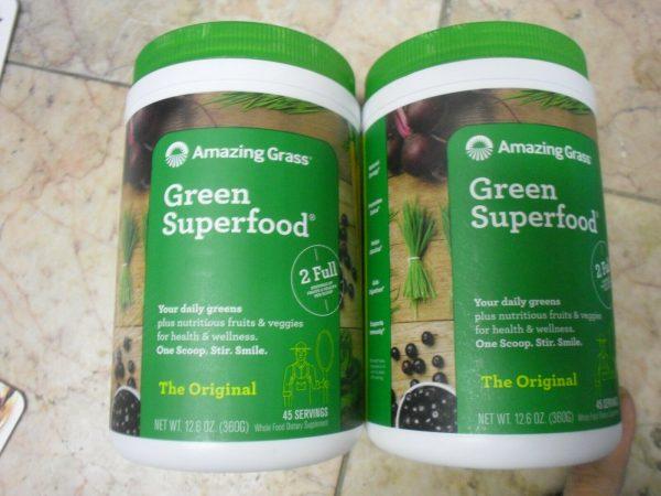 New ! 2 X 12.6 oz Amazing Grass Green Superfood, Original