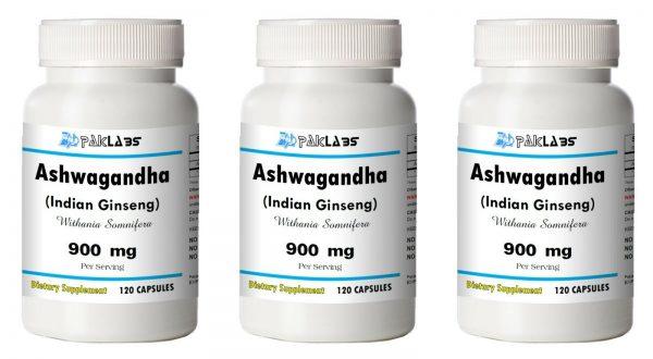 Ashwagandha Indian GINSENG Strong 900mg 1/2/3 Big Bottles 120/240/360 Capsules