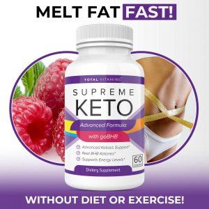 Supreme Keto Diet Pills Advanced Weight Loss BHB Ketones Fat Burner Ultra Boost 1