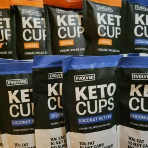 (10 Packs) Evolved Keto Cups - Coffee & Coconut Butter COMBO. EXP 3/2022