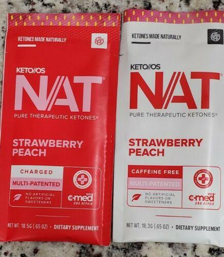 Pruvit NAT KETO OS Strawberry Peach 5 & 10 Packets You pick