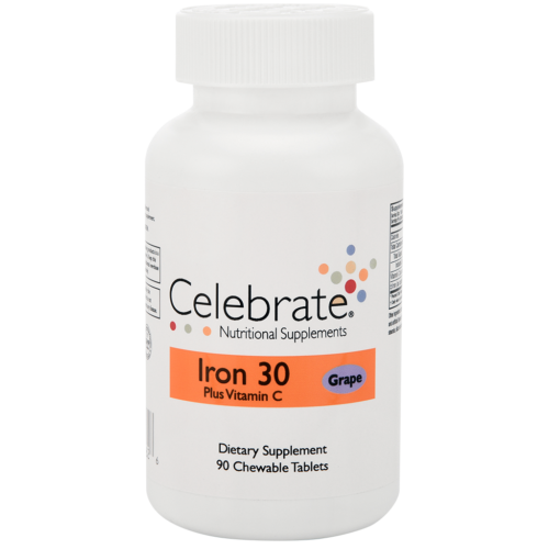 Celebrate Vitamins - Iron Chewable Tablets with Vitamin C 4