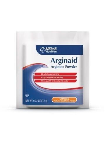 Arginaid Orange, Arginine Powder, 9.2 Gram Packet, by Nestle - Case of 56 1
