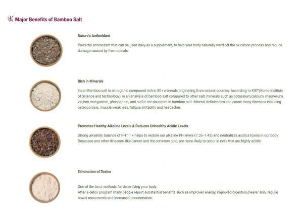 Insan 9 Times Roasted Purple Bamboo Salt Crystals 240g Detox 80+ Minerals 4