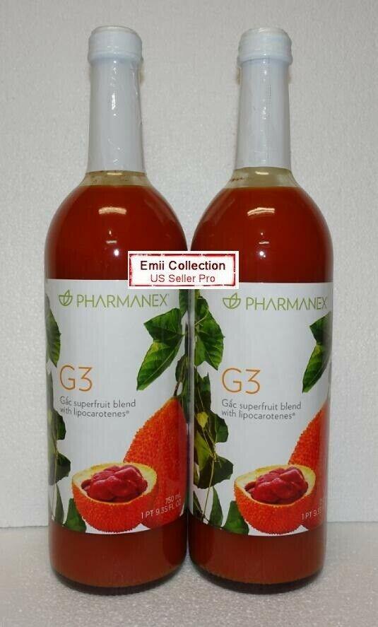 Nuskin Nu Skin Pharmanex Gac G3 Juice Pack of 2 Bottles Sealed New Exp 01/2022 1