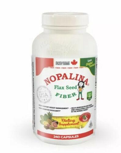 5 pckNopalina Flax Seed Plus 240 cap & Free Samples