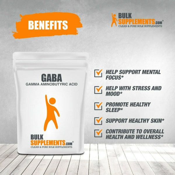 BulkSupplements.com Gamma Aminobutyric Acid (GABA) 750mg Powder - Focus Aid 6