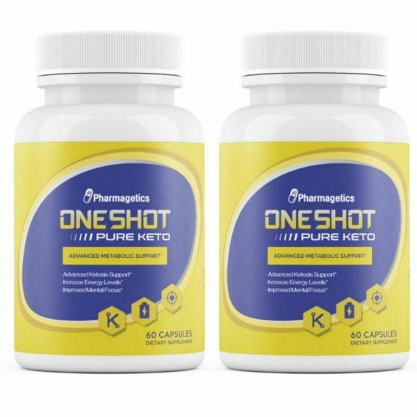 2 Bottles One Shot KETO Weight Loss Pills Supplement Keto Fat Burner 60 Capsules