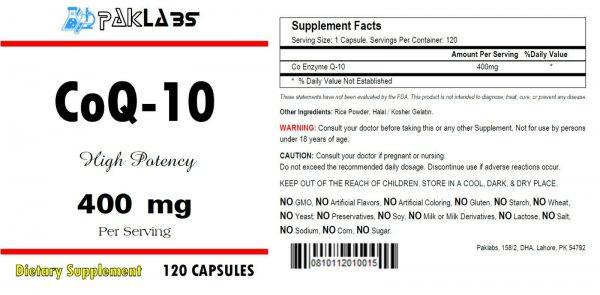 CoQ-10 CoEnzyme Q-10 400mg Super High Potency 120 Capsule FAST USA SHIPPING 1