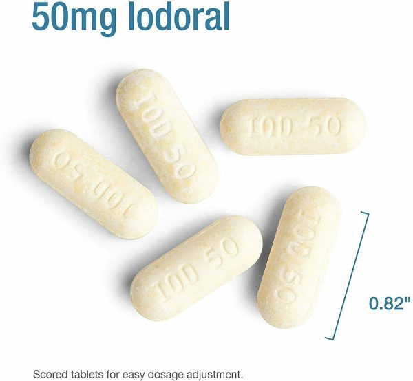 Optimox Iodoral IOD-50 LARGE 120 TABLETS High Potency Lugol Solution EXP. 06/21 2