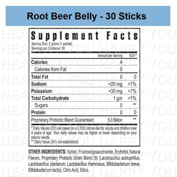 Root Beer Belly - 30 Count Box (3 PACK) Youngevity Sticks 1