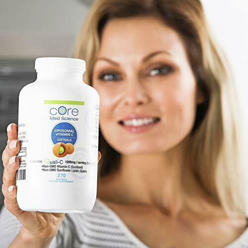 Core Med Liposomal Vitamin C Softgels 1000mg/dose - Quali®-C 3 Month  4