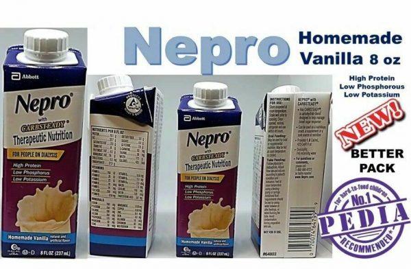 Abbott Nepro Carb Steady Vanilla  8 oz resealable 24 pk case 1