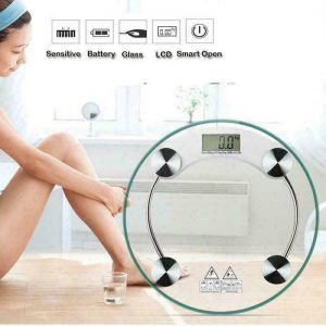 180KG/396lb Tempered Glass LCD Digital Electronic Body Bathroom Weight Scale