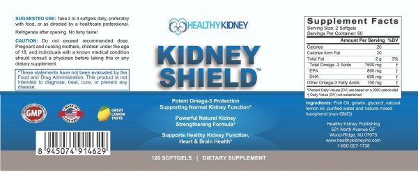 Kidney Shield Supplement Function Creatinine Cleanse Renal Health Function 3pack 9