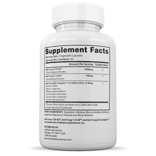 Fungus Clear Premium Probiotic 1.5 Billion CFU Improves Toe Nail Health 5 Pack 3