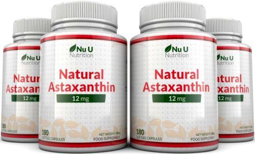 Astaxanthin 12mg - 4 x 180 Softgels (6 Month Supply) High Strength astaxanthin