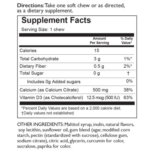 Celebrate Vitamins Calcium Citrate Soft Chew 1