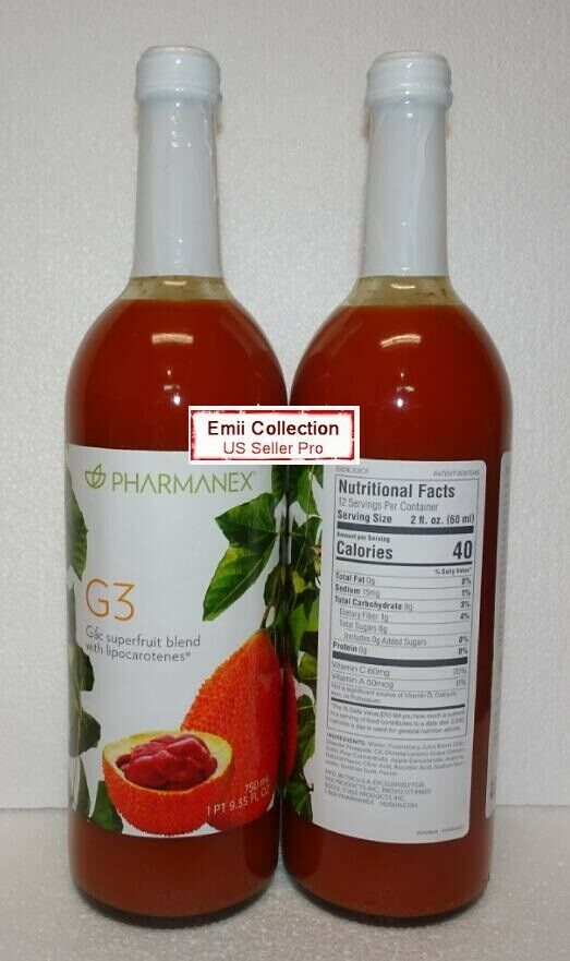 Nuskin Nu Skin Pharmanex Gac G3 Juice Pack of 2 Bottles Sealed New Exp 01/2022 2