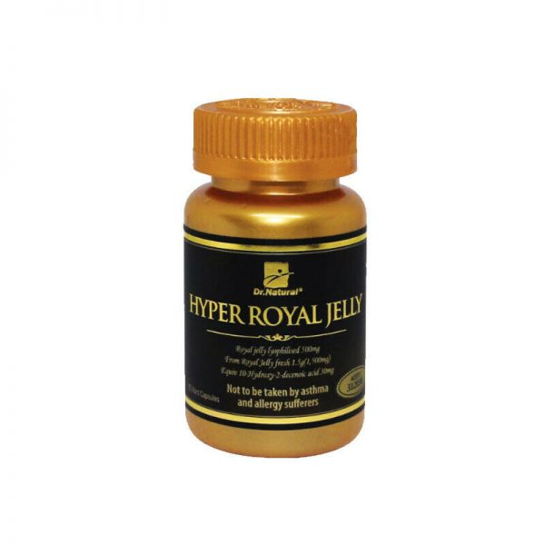 Immune Energy booster - Dr Natural Royal Jelly Powder 1500mg 10HDA 6% 180caps. 1