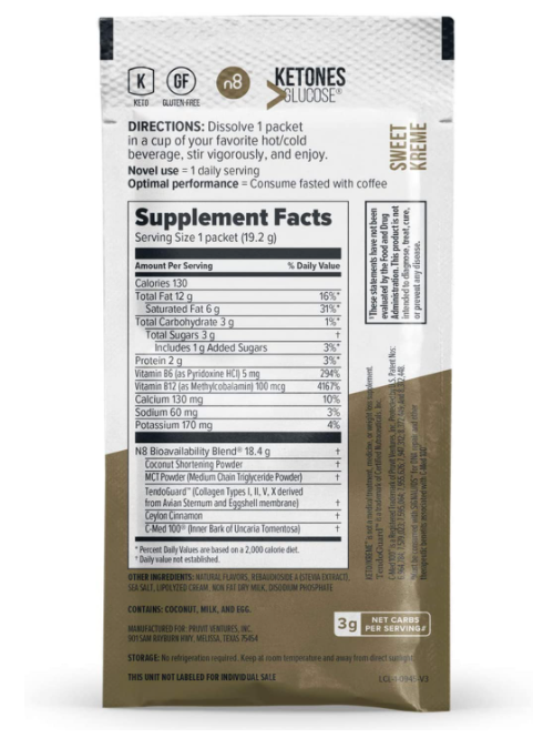 Pruvit Keto Sweet Kreme 5,10 & 20 Packets Flavor Dietary Supplement Exp: 01/2023 1
