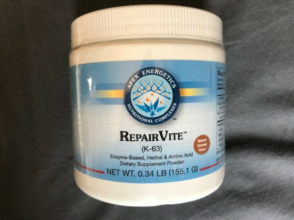 RepairVite Caramel by Apex Energetics K-63 155.1 G New and Sealed! Best by 01/23