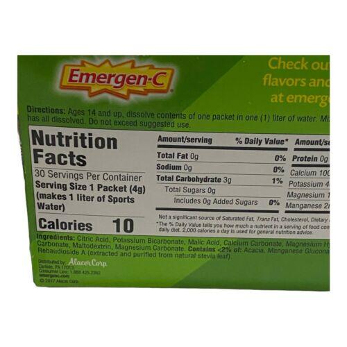 Emergen-C Electro Mix Lemon-Lime 30 Packets 0.14 oz ea Gluten-Free EXP: 08/2021 7