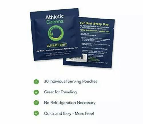 17 - 12g Individual Packets Athletic Greens Ultimate Daily Whole Food NEW NO BOX 4