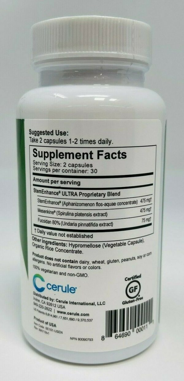 Cerule StemEnhance Ultra The Ultimate in Stem Cell Support 60 Capsules Enhance 1