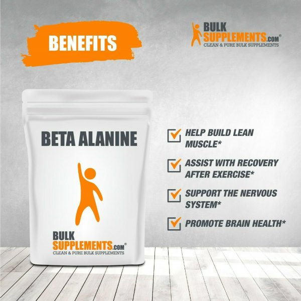 BulkSupplements.com Beta Alanine - Vegan Pre Workout - Beta Alanine Powder 7