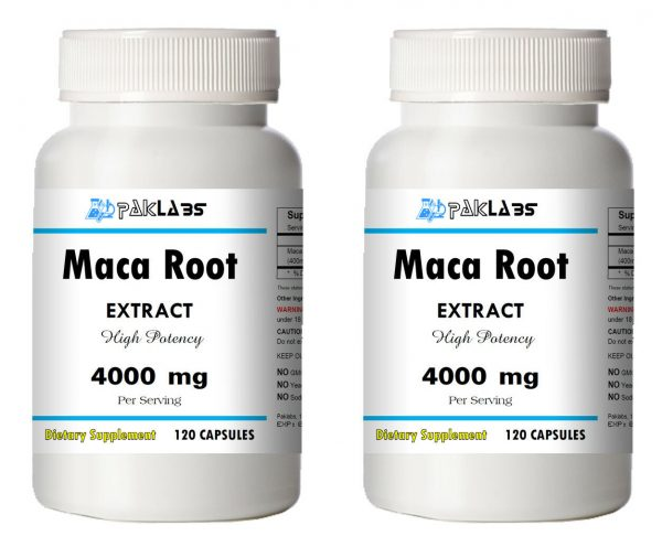 Strong Maca Root Extract 4000 mg High Potency 240 Capsules 2x Big Bottles NEW