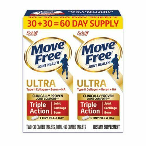 Move Free Ultra Triple Action with UCII Twin Pack, 60 Tablets (MOV95603)