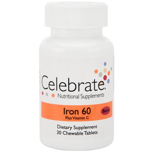Celebrate Vitamins - Iron Chewable Tablets with Vitamin C 10