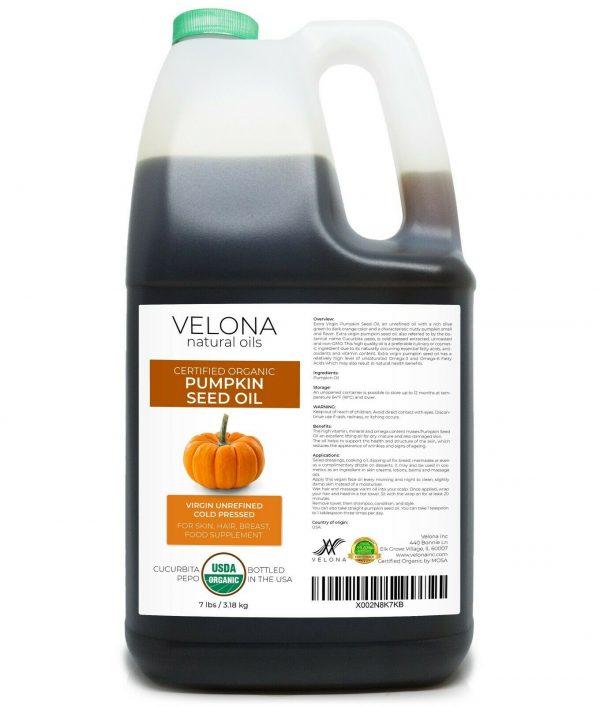 Velona Pumpkin Seed Oil USDA Certified Organic 2oz-7lb Virgin Unrefined Cooking  9