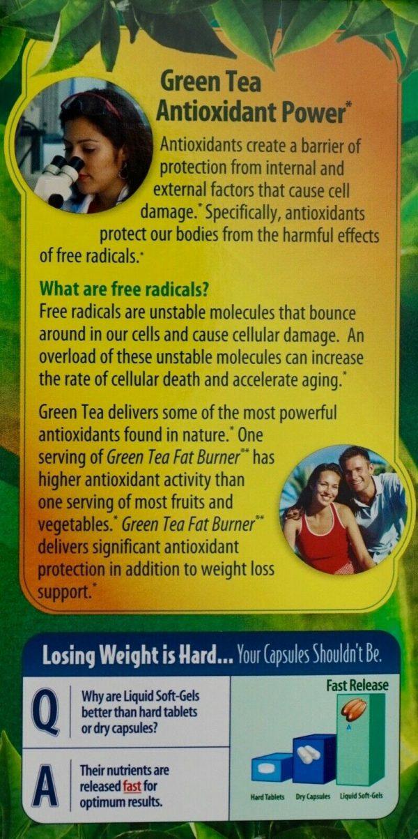 Green Tea Fat Burner 400mg EGCG Maximum Strength, 200 400 or 600 Liquid Soft-Gel 1