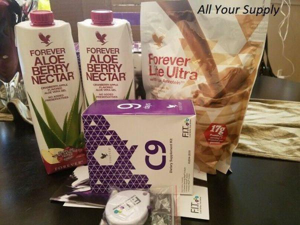 Clean 9 Forever Living w/Aloe Berry Nectar Detox Program-VANILLA/CHOCOLATE,HALAL 1