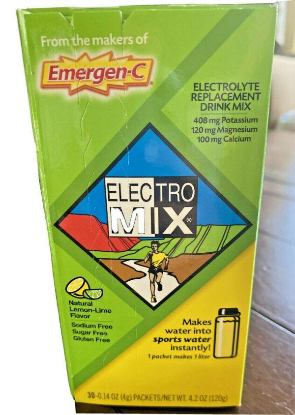 Emergen-C Electro Mix Lemon-Lime 30 Packets 0.14 oz ea Gluten-Free EXP: 01/2022