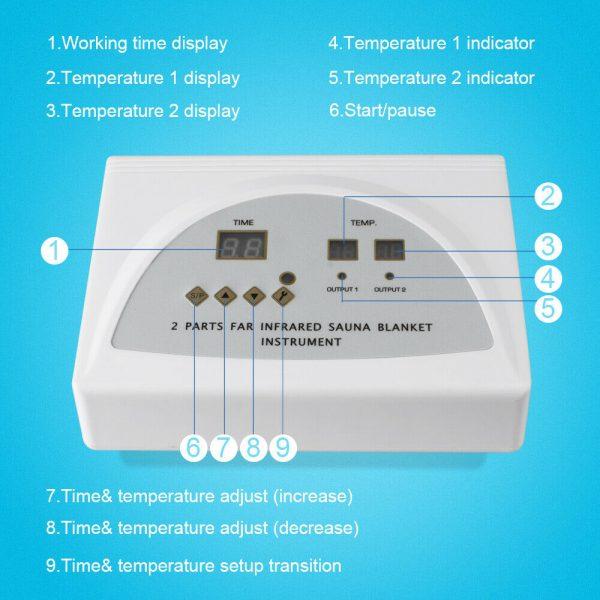 Sauna Far Infrared Thermal Slim Blanket Heating Bag SPA WeightLoss Detox Machine 5
